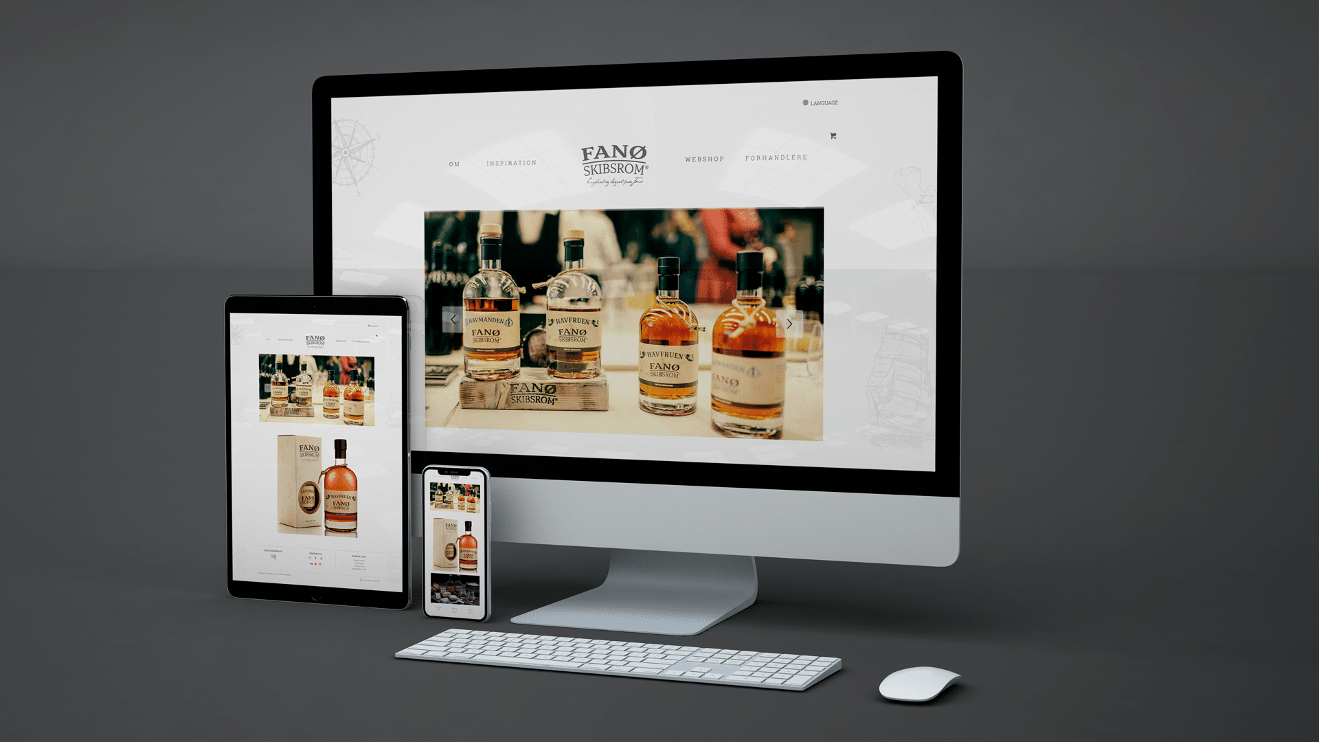 Hjemmeside med responsiv design